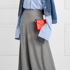 J Crew Collection Adriana Wool Flannel Maxi Skirt